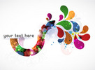 Thumbnail Background Vector Abstract Colorful Illustration